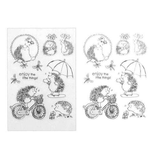 Transparent Clear Silicone Rubber Stamp Cling DIY Diary Scrapbooking Card Decor