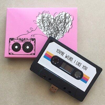 16GB USB Retro Mixtape - Handmand Gift - Techie, Gadget, Love, Cute, Funny, Bae
