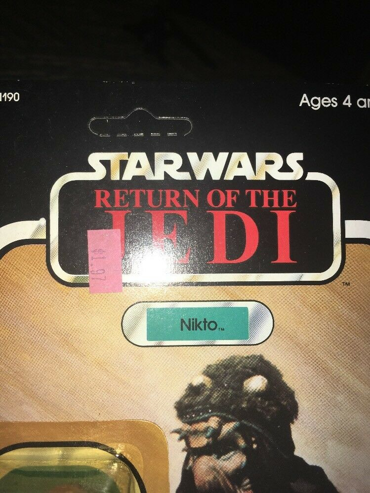Unpunched The Star Wars KENNER 1983 NIKTO Return Of The Unpunched Jedi Action Figure ROTJ ac8e06