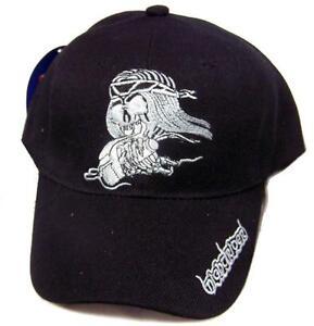 BUY 1 GET 1 FREE NIGHT RIDER SKELETON ON BIKE BIKER BASEBALL HAT cap #HAT16 NEW