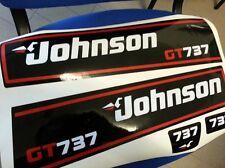 Adesivi motore marino fuoribordo Johnson 737 GT calandra bianca 40 hp