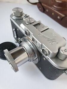 Vintage camera Zorki -2 RARE USSR rangefinder 35mm M39 Leica+Industar 22 red P