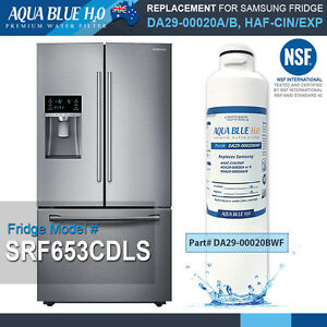 Details About Samsung Srf653cdls French Door Fridge Water Filter With Nsf