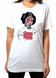 New PRINCESS LEIA CARRIE FISHER REBEL Men/'s White T-Shirt Size S to 3XL