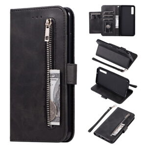 For-Samsung-Galaxy-S10-S9-Plus-A50-Flip-Leather-Card-Zip-Wallet-Case-Stand-Cover