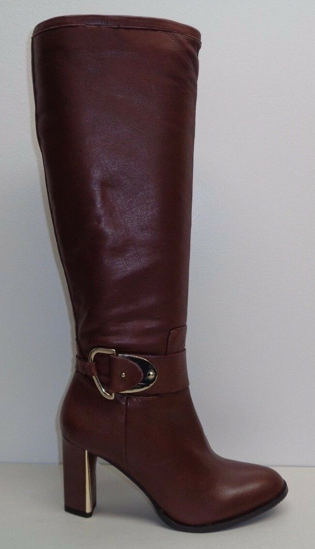 Antonio Melani Size 10 M PERCY Brown Leather Knee High Boots New Womens Shoes