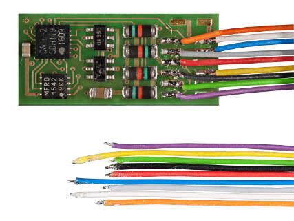 145 mm Doehler /& Haass pd12a-3 veicolo Decoder DCC con 9 connettore trefoli ca