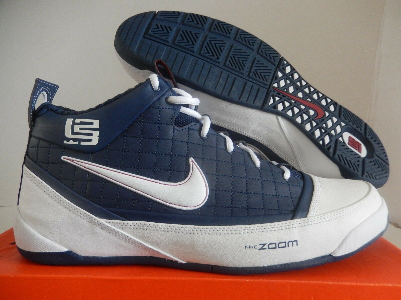 NIKE ZOOM LBJ AMBASSADOR  LEBRON JAMES  NAVY blueE SZ 16 SUPER RARE  [333492-411]