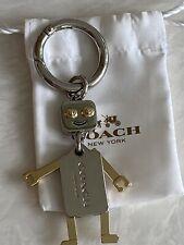 Spinning Robot Charm Keychain Keyring Swivel Bag Tag 74mm