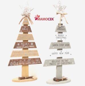 Albero Di Natale In Legno Shabby.Dettagli Su Albero Di Natale Alberino Legno H44 Decorazione Natalizia Casa Tavola Shabby