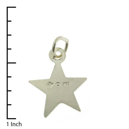 925 Sterling Silver Western Star Charm Made in USA