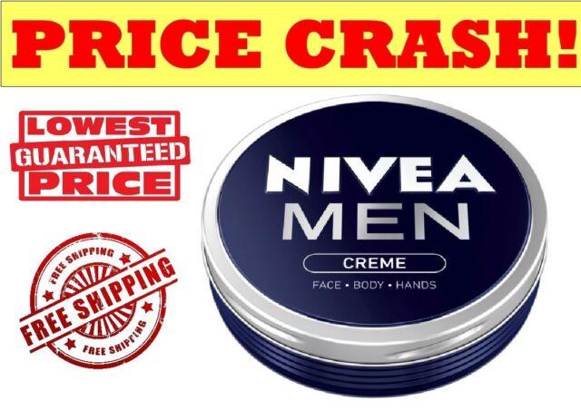 NIVEA MEN CREAM Creme for Face, Body & Hands moisturiser dry skin - 30ML TIN