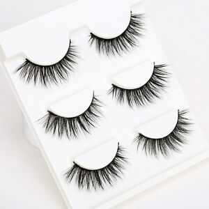 3Pairs-Natural-False-Eyelashes-Thick-Cross-Mink-Fake-Eye-Lashes-Makeup-Extension