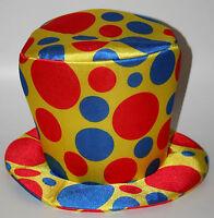 Clown Top Hat Circus Halloween Parade Costume Polka Dot