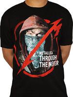 Metallica Through the Never Official Heavy Metal Rock Music Black Mens T-shirt
