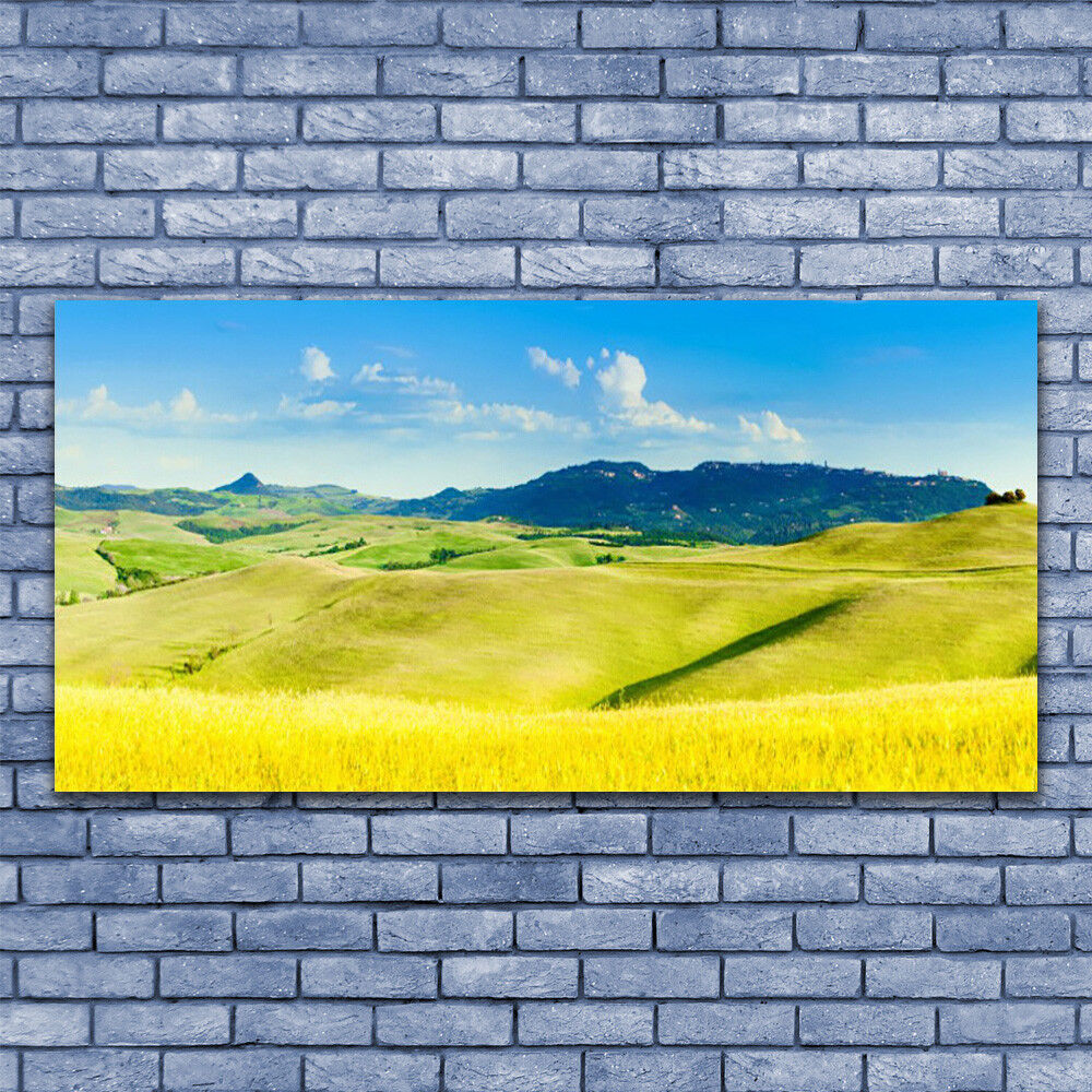 Glass print Wall art 140x70 Image Picture Country Mountains Mountains Mountains Landscape f97227