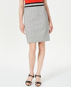 CALVIN KLEIN Womens Straight & Pencil  Short Skirt Gray SIZE 6P Piped