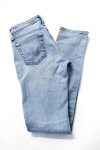 AG-Adriano-Goldschmied-Womens-Low-Rise-Skinny-Jeans-Pants-Blue-Cotton-Size-24