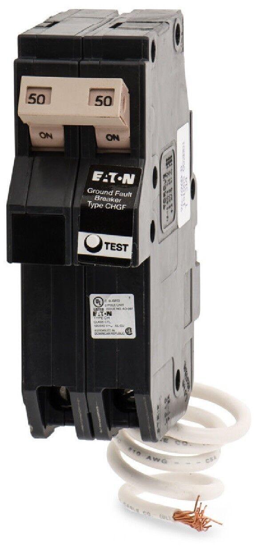 NEW EATON cutler hammer ch ch250gf 2 pole 50 amp ground fault gfci gfi breaker