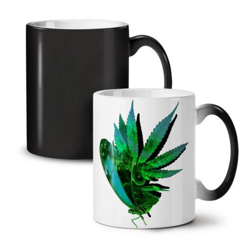 Marijuana Butterfly NEW Colour Changing Tea Coffee Mug 11 ozWellcoda