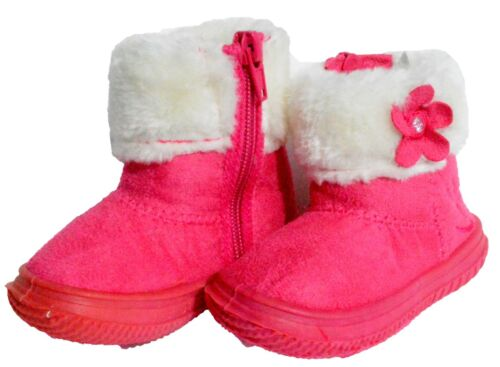 Baby Toddler Girls Kid Infant Fur Winter Boots Flat Heel Shoes Winter Faux Suede