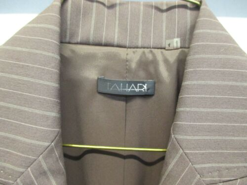 Tahari Pin 428 Sycamore Blend Nwt Button 739412604086 New Striped 3 Rayon Brown Blazer 4 qFvdITw