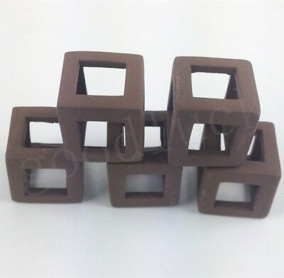5x Ceramic Cubes Blocks for Crystal Red Shrimp Fish Moss Plants Aquarium Tank