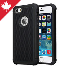 Military Armor Hybrid Hard Plastic Rubber Case Apple iPhone 5 5C 5S SE Black