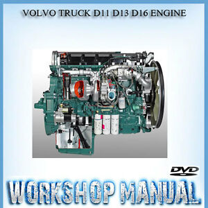 volvo truck d11 d13 d16 engine workshop service repair automobile workshop manual book auto workshop manuals online