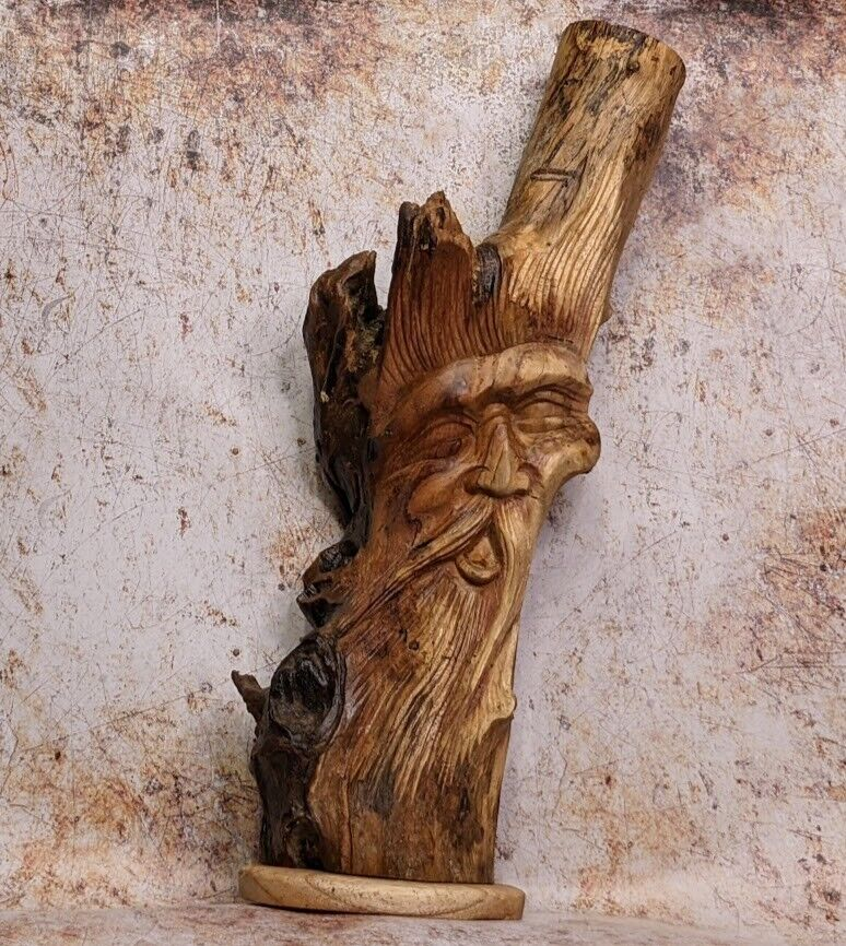 Green Man of The Woods Forest Man LOTR Wizard Sculpture Bust Hand Carved