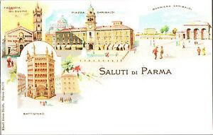 CARTOLINA-D-039-EPOCA-SALUTI-DI-PARMA-BATTISTERO-DUOMO-1930-Riprod