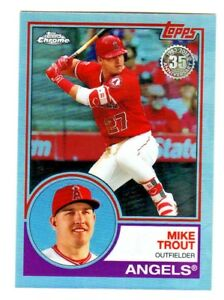 2018-Topps-Chrome-1983-35TH-ANNIVERSARY-83T-12-MIKE-TROUT-Angels-QTY-AVAILABLE