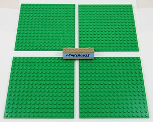 """LEGO - 16x16 Dots (5""""x5"""") Green Baseplate - 91405 Thick Base Plate Flat Town Lot"""