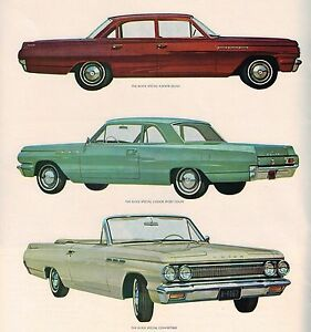 Image Is Loading 1963 Buick Brochure Catalog Skylark Convertible Special Station