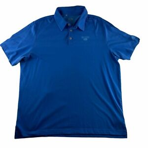 Adidas Climacool Men's Size XL Short Sleeve Performance Polo Shirt Light Blue