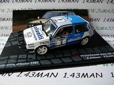 voiture 1/43 IXO altaya Rallye Côte d'Ivoire Carlo VOLKSWAGEN GOLF GTI 16 V 1987