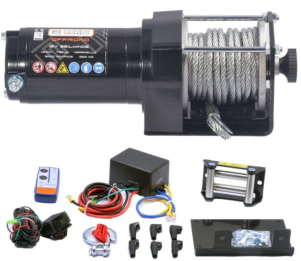 El-Spil 1360 kg. / 3000LB Elektrisk spil til b...