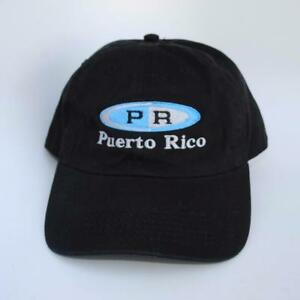 1827b7b1527 Puerto Rico One Size Fits All Black Curved Brim Dad Hat Baseball Cap ...