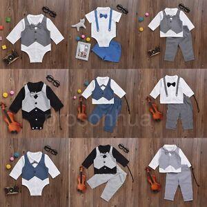 cbac20877394 2pcs Newborn Infant Baby Boy Kids Shirt Tops+Pants Clothes Outfits ...