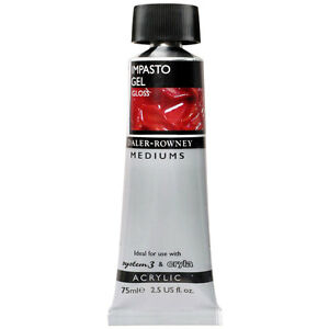 daler rowney acrylic medium impasto gel medium 75ml gloss