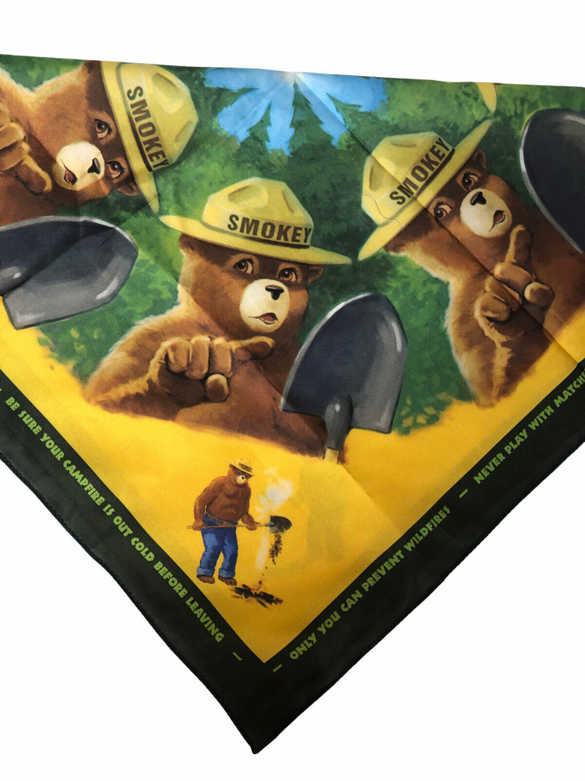 Smokey The Bear Only You Can Prevent Wildfires Bandana Handkerchief Scarf 19