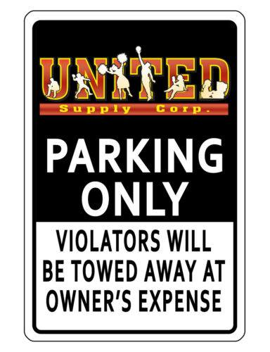 PERSONALIZED BUSINESS LOGO PARKING SIGN DURABLE ALUMINUM NO RUST Quality BK#454