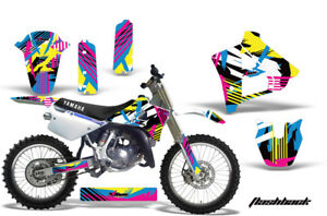 Dirt-Bike-Graphics-Kit-Decal-Sticker-Wrap-For-Yamaha-YZ125-YZ250-91-92-FLASHBACK
