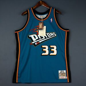 the latest 9875c 2b835 Details about 100% Authentic Grant Hill Mitchell Ness Detroit Pistons  Jersey Size Mens 36 S