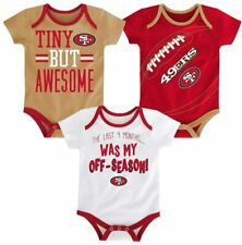 Outerstuff Forty-Niners Baby Infant First /& Ten 3-Pack Bodysuit Set