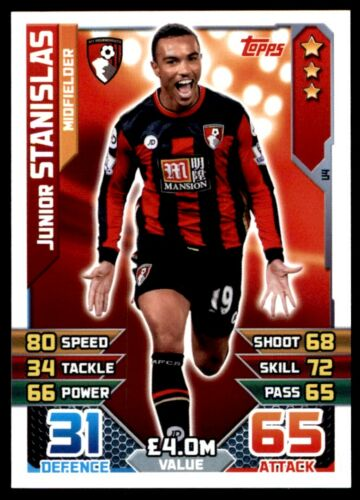 Match Attax 2015//16 extra-Junior Stanislas AFC Bournemouth escuadrón actualizaciones-U4