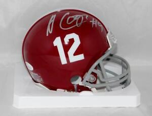 Amari Cooper Autographed Alabama Riddell Mini Helmet- JSA Witness Auth