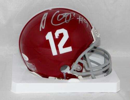 Amari Cooper Autographed Alabama Riddell Mini Helmet JSA Witness Auth