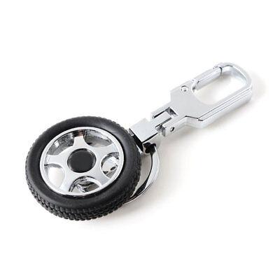 Rubber Wheel Tyre Tire Metal Keychain Creative Car Key Chain Keyring Decor Ring