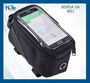 Borsa-da-manubrio-per-Bici-MTB-Borsello-Bicicletta-porta-smartphone-Touch-Screen